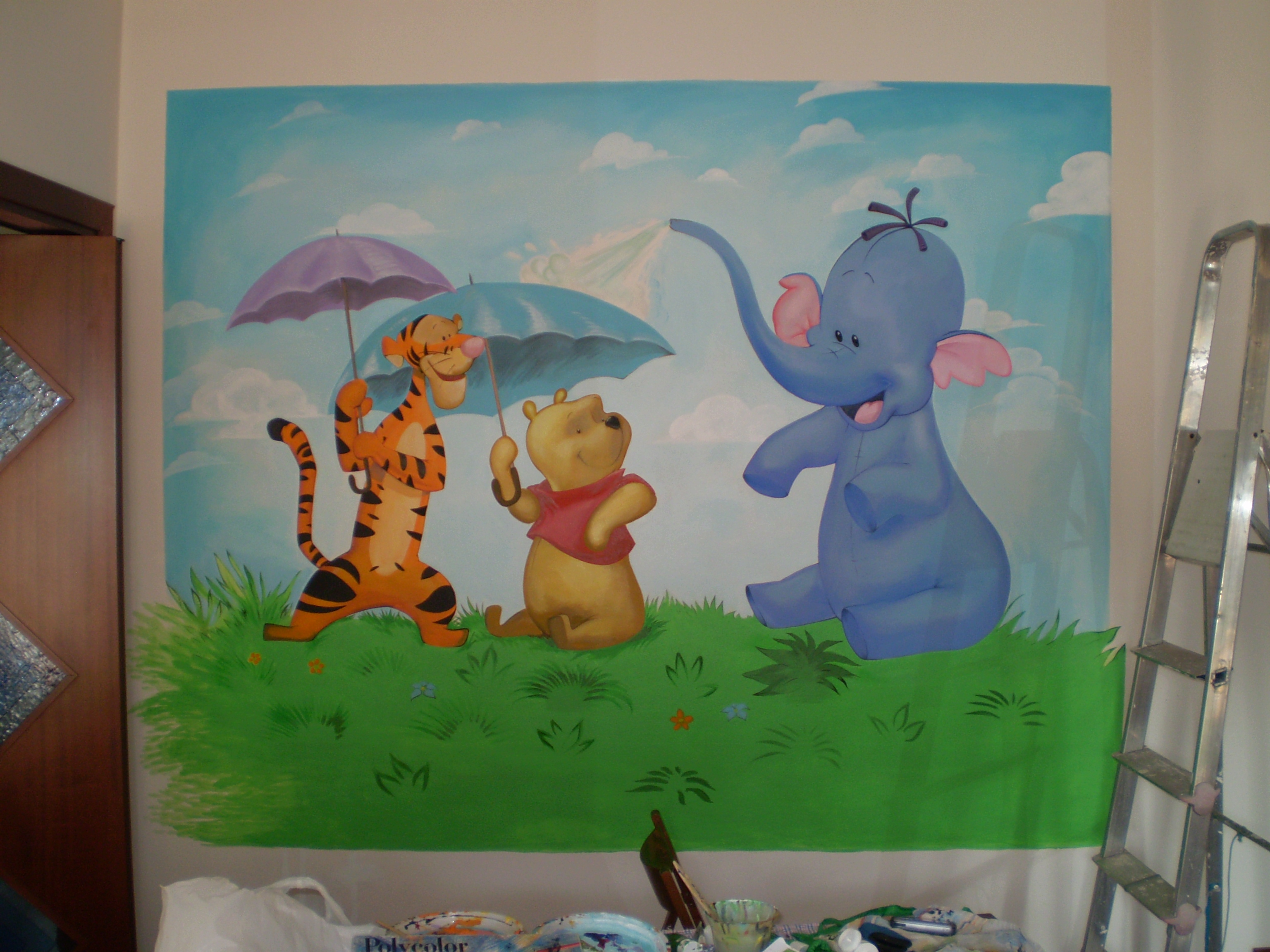 beautiful cameretta winnie the pooh pictures. Black Bedroom Furniture Sets. Home Design Ideas